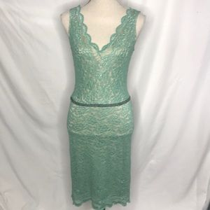Alexia Admor Designer Dress lace all over S mint